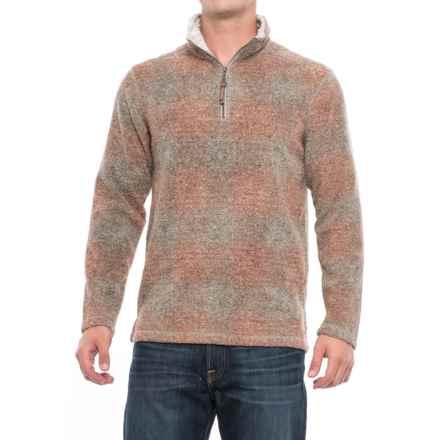 True Grit Melange Blanket Fleece Shirt- Zip Neck (For Men) in Spice Plaid - Closeouts