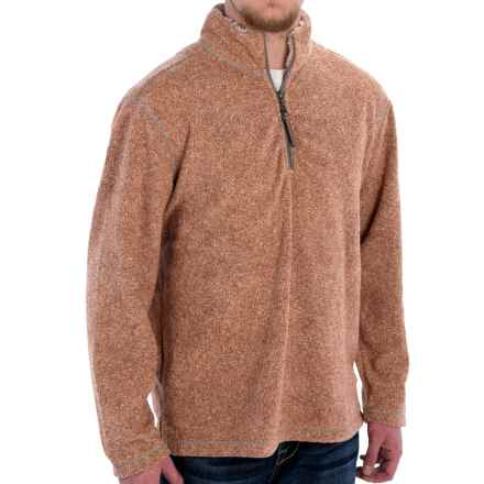 True Grit Melange Blanket Fleece Shirt- Zip Neck (For Men) in Spice - Closeouts