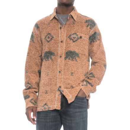 True Grit Melange Blanket Shirt - Long Sleeve (For Men) in Spice Bear - Closeouts