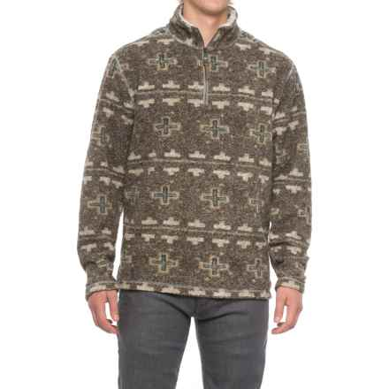 True Grit Melange Blanket Shirt - Zip Neck, Long Sleeve (For Men) in Brown - Closeouts