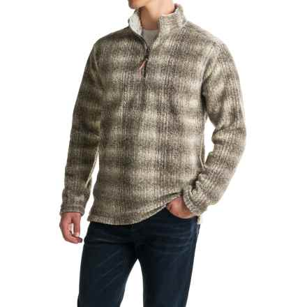 True Grit Melange Blanket Sweater - Zip Neck (For Men) in Brown - Closeouts