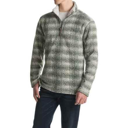 True Grit Melange Blanket Sweater - Zip Neck (For Men) in Green - Closeouts