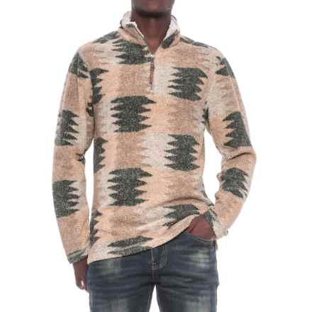 True Grit Melange Blanket Sweater - Zip Neck (For Men) in Multi - Closeouts