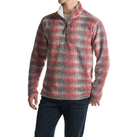 True Grit Melange Blanket Sweater - Zip Neck (For Men) in Red - Closeouts