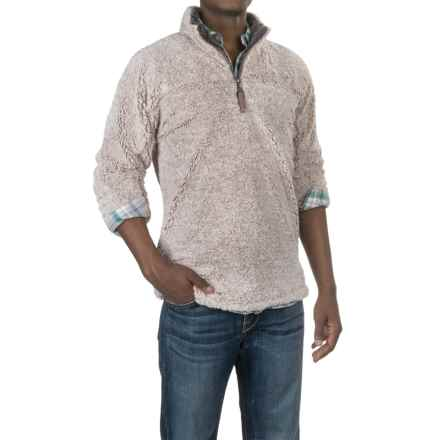 True Grit Melange Faux-Shearling Sweater - Zip Neck (For Men) in Oatmeal - Closeouts