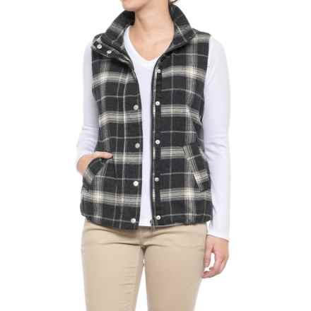 True Grit Melange Flannel & Frosty Tipped Classic Vest (For Women) in Black/Natural - Closeouts