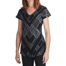 True Grit Mesa Stripe Shirt - Short Sleeve (For Women) in Vintage Black/Natural - Closeouts