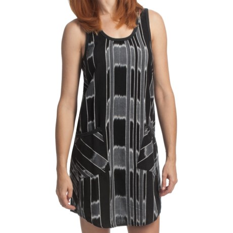 True Grit Mesa Stripe Tank Dress - Cotton, Sleeveless (For Women) in Vintage Black/Natural