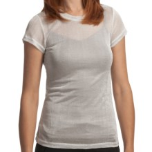 True Grit Mesh Knit T-Shirt - Short Sleeve (For Women) in Silver Heather - Closeouts
