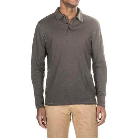 True Grit Modern Slub Polo Shirt - Long Sleeve (For Men) in Vintage Black - Closeouts