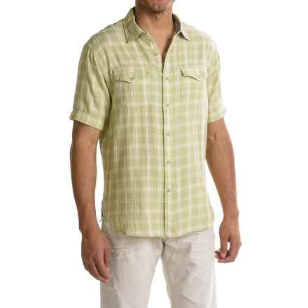 True Grit Mojito Check Shirt - Short Sleeve (For Men) in Lawn - Closeouts