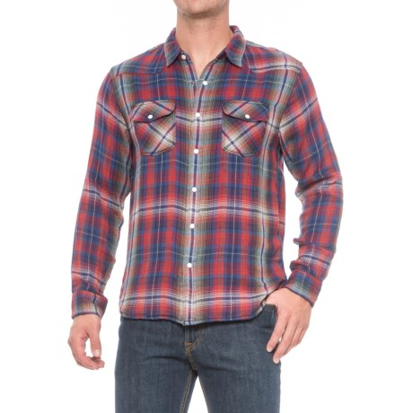 True Grit Mountain High Montana Western Shirt - Snap Front, Long Sleeve (For Men) in Blue/Red