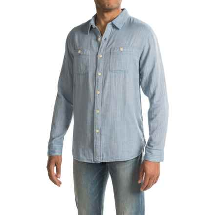 True Grit Newport Double Light Indigo Shirt - Long Sleeve (For Men) in Chambray - Closeouts