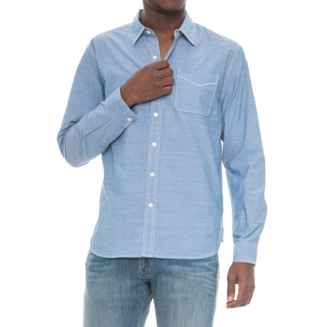 True Grit nmSlub Light Chambray Shirt - Long Sleeve (For Men) in Light Chambray
