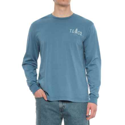 True Grit Outdoor Co. Vintage Graphic T-Shirt - Long Sleeve (For Men) in River - Overstock