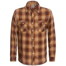 True Grit Patrol Plaid & Check Shirt - Long Sleeve (For Men) in Burnt Orange - Closeouts