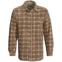 True Grit Peaks Plaid Big Shirt - Long Sleeve (For Men) in Brown - Closeouts