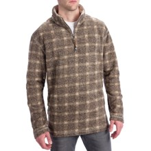 True Grit Peaks Plaid Pullover - Zip Neck (For Men) in Brown - Closeouts