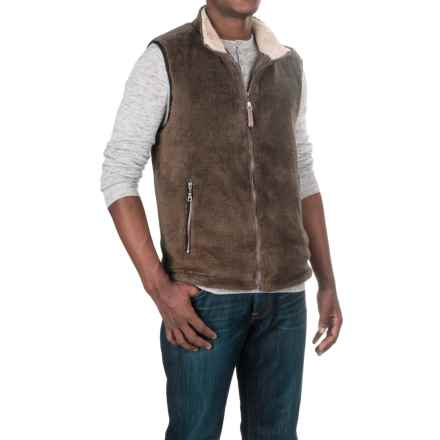 True Grit Pebble Pile Double-Up Fleece Vest (For Men) in Cocoa - Closeouts