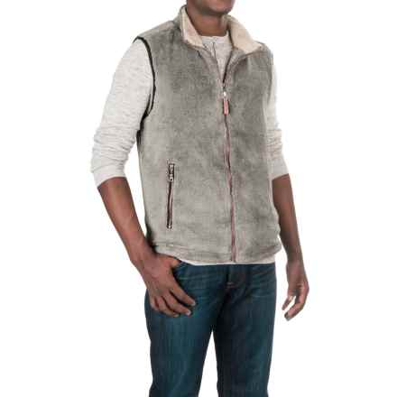 True Grit Pebble Pile Double-Up Fleece Vest (For Men) in Faded Heather - Closeouts