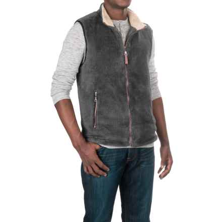 True Grit Pebble Pile Double-Up Fleece Vest (For Men) in Harley Black - Closeouts