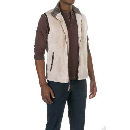 True Grit Pebble Pile Double-Up Fleece Vest (For Men) in Ivory - Closeouts