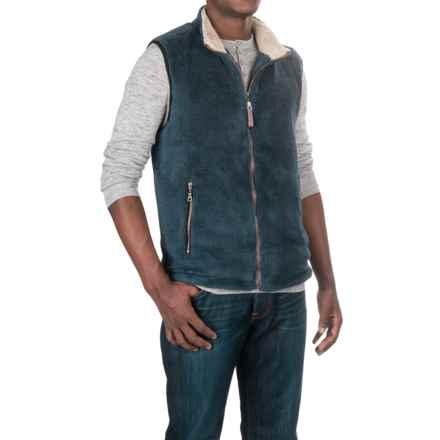 True Grit Pebble Pile Double-Up Fleece Vest (For Men) in Vintage Denim - Closeouts