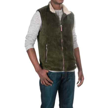 True Grit Pebble Pile Double-Up Fleece Vest (For Men) in Vintage Olive - Closeouts