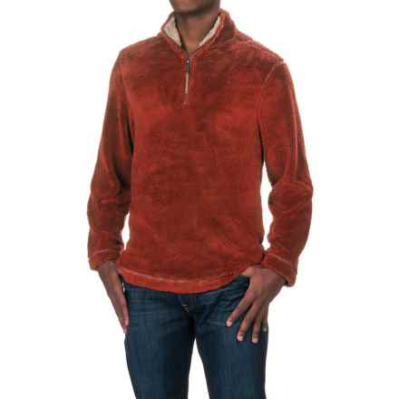 True Grit Pebble Pile Fleece Sweater - Zip Neck (For Men) in Spice - Closeouts