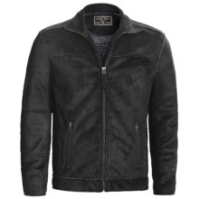 True Grit Pebble Sueded Cody Jacket - Full Zip (For Men) in Black - Closeouts