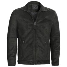 True Grit Pebble Sueded Cody Jacket - Full Zip (For Men) in Vintage Black - Closeouts