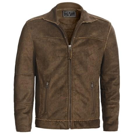 True Grit Pebble Sueded Cody Jacket - Full Zip (For Men) in Vintage Black