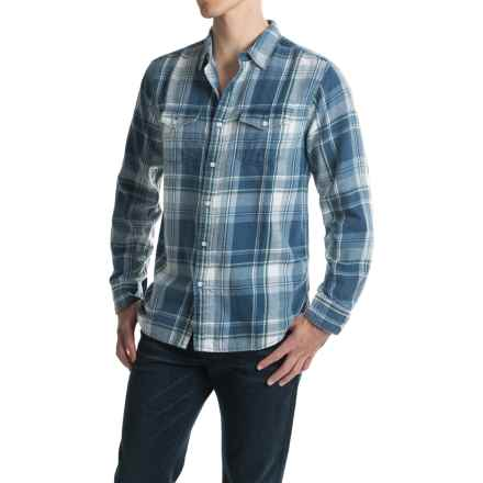 True Grit Plaid Flannel Shirt - Long Sleeve (For Men) in Denim - Closeouts
