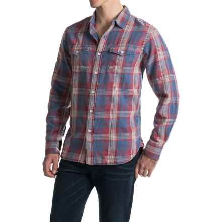 True Grit Plaid Flannel Shirt - Long Sleeve (For Men) in Red - Closeouts