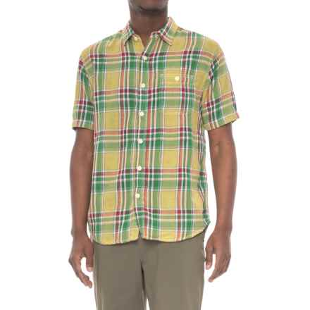 True Grit Plaid Pocket Shirt - Short Sleeve (For Men) in Yellow - Closeouts