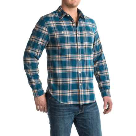 True Grit Plaid Shirt - Long Sleeve (For Men) in Blue/Ecru - Closeouts