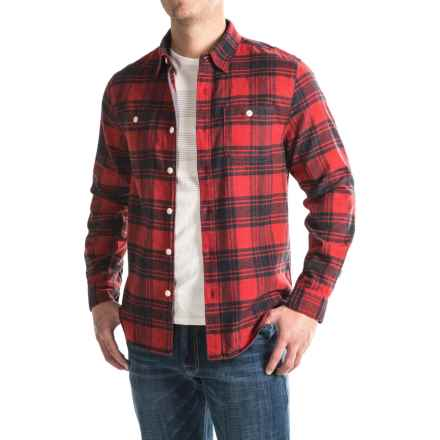 True Grit Plaid Shirt - Long Sleeve (For Men) in Vintage Red/Vintage Black - Closeouts