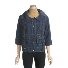 True Grit Prairie Jacket - Chino Cotton, 3/4 Sleeve (For Women) in Navy - Closeouts