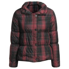 True Grit Printed Puffers Jacket (For Women) in Red Plaid - Closeouts