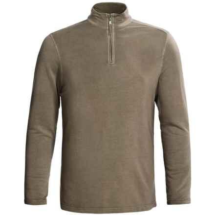 True Grit Pullover Shirt - TENCEL®, Zip Neck, Long Sleeve (For Men) in Moss - Closeouts