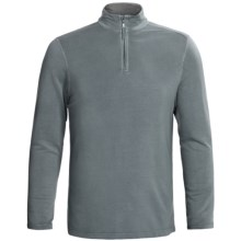 True Grit Pullover Shirt - TENCEL®, Zip Neck, Long Sleeve (For Men) in Ocean - Closeouts