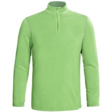 True Grit Pullover Shirt - TENCEL®, Zip Neck, Long Sleeve (For Men) in Surf Green - Closeouts