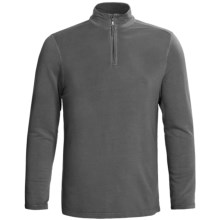 True Grit Pullover Shirt - TENCEL®, Zip Neck, Long Sleeve (For Men) in Vintage Black - Closeouts