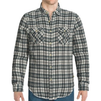 True Grit Ranch Check Shirt - Long Sleeve (For Men) in Alpine Green