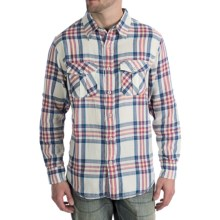 True Grit Regatta Plaid Shirt - Long Sleeve (For Men) in Natural/Blue - Closeouts