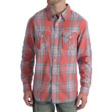 True Grit Regatta Plaid Shirt - Long Sleeve (For Men) in Red/Blue - Closeouts