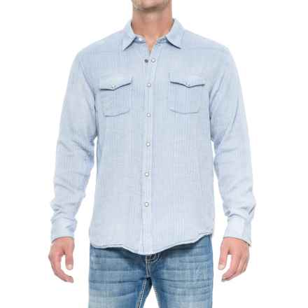 True Grit Rio Grande Western Shirt - Snap Front, Long Sleeve (For Men) in Chambray - Closeouts