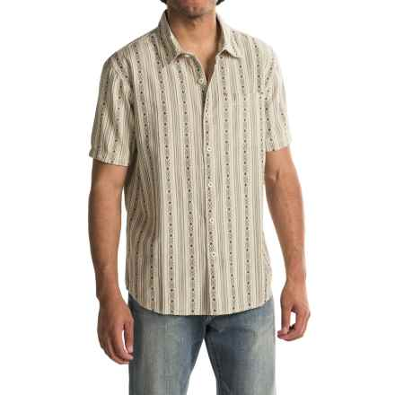 True Grit Rio Stripe Shirt - Short Sleeve (For Men) in Oatmeal - Closeouts