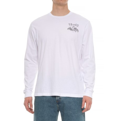 True Grit Road Warrior Vintage Graphic T-Shirt - Long Sleeve (For Men) in Optic White