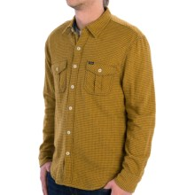 True Grit Roadhouse Checks Shirt - Fully Lined, Long Sleeve (For Men) in Old Gold - Closeouts
